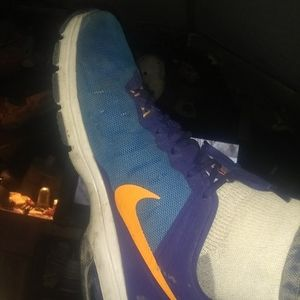Nike Air Max blue and orange size 11
